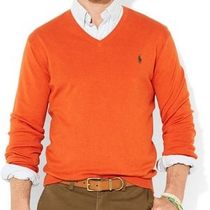 EUC Polo Ralph Lauren Pima cotton v-neck sweater M